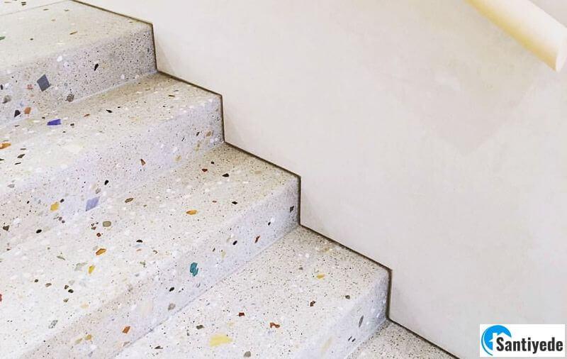 Terrazo merdiven karo yapılması
