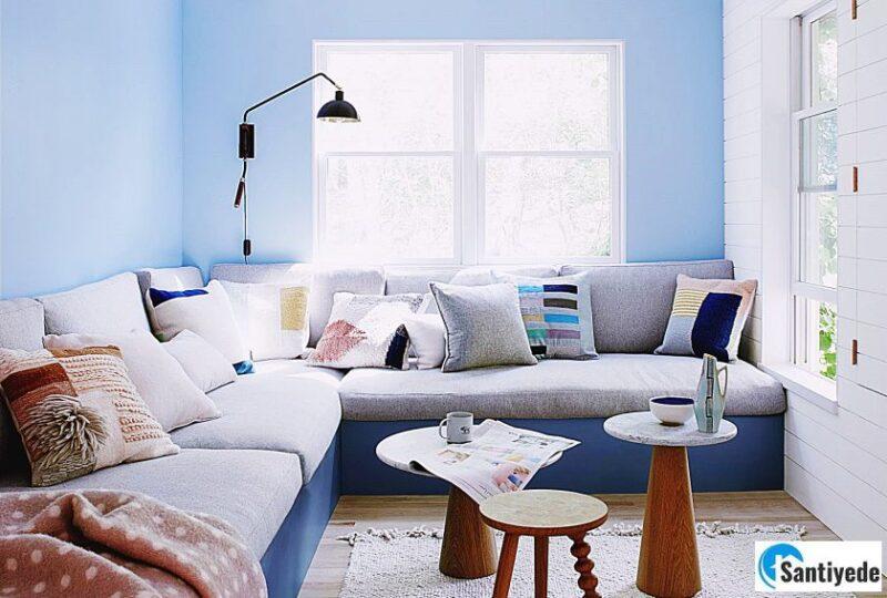 Bebek mavisi duvar boya renkleri