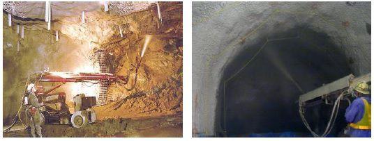 püskürtme beton yeraltı tünel yapımı