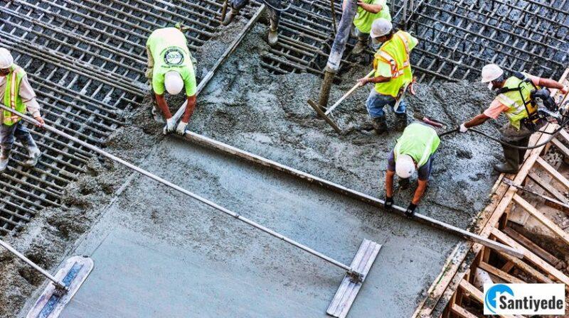 sıcak havada ve soğuk havada beton dökümü