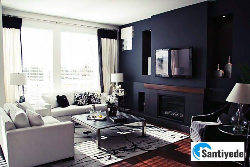 siyah salon duvar boyası