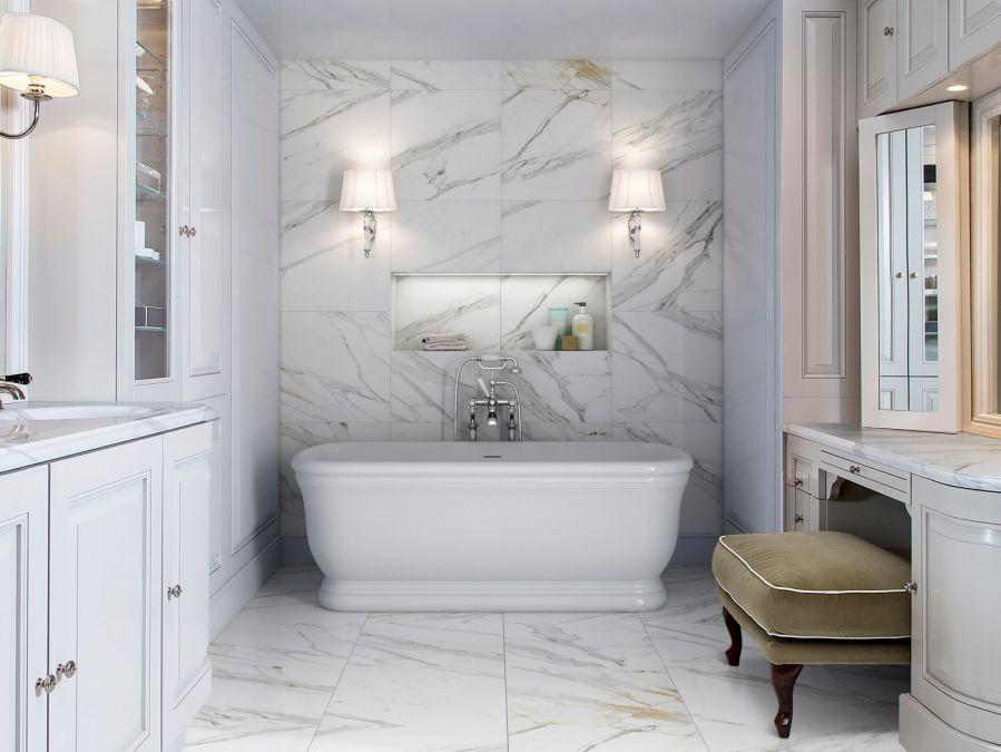 banyo dekorasyonu mermer