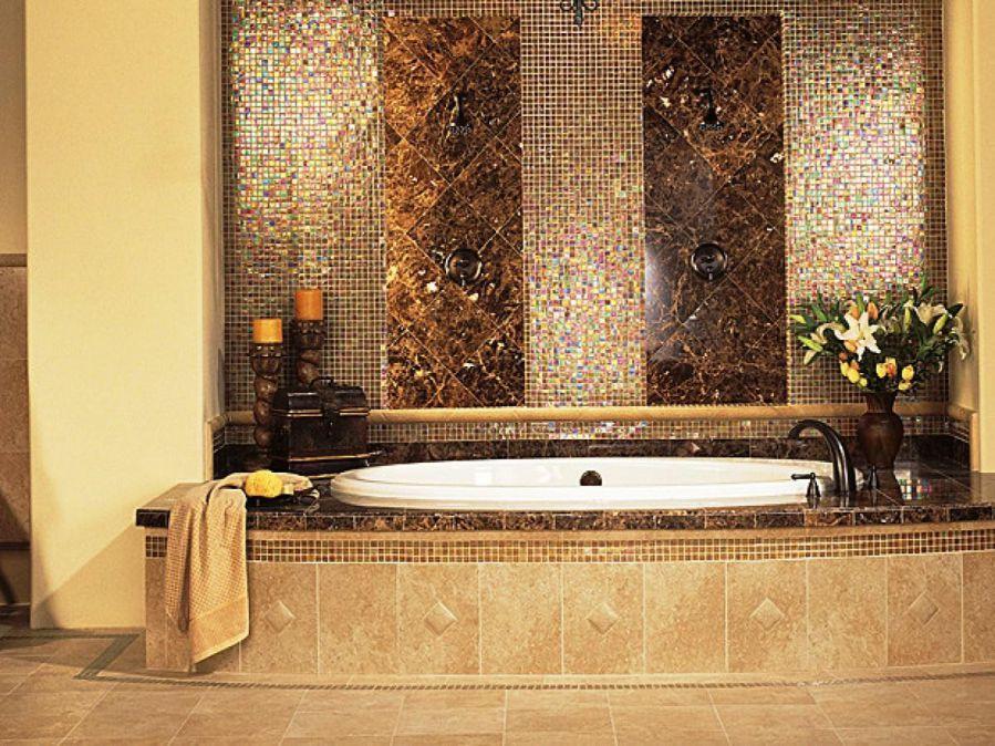 banyo dekorasyonu karo mozaik