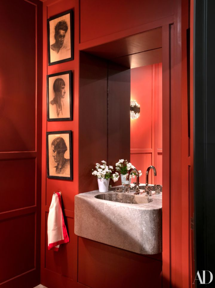 Kırmızı Banyo Renk seçimi