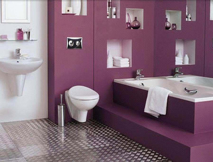 mor banyo duvar renki