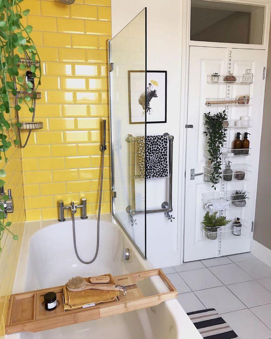 Sarı Renk ile banyo Tasarım