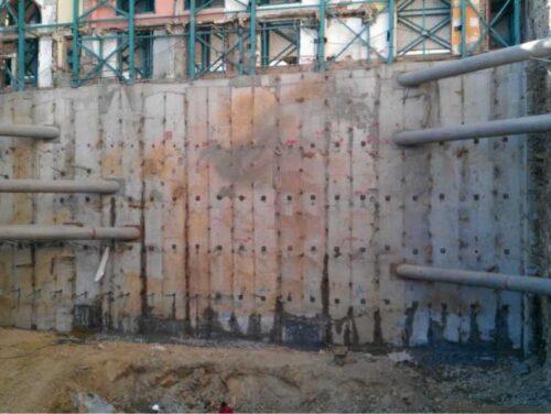 Ankrajlı ve destekli betonarme kuyu perde
