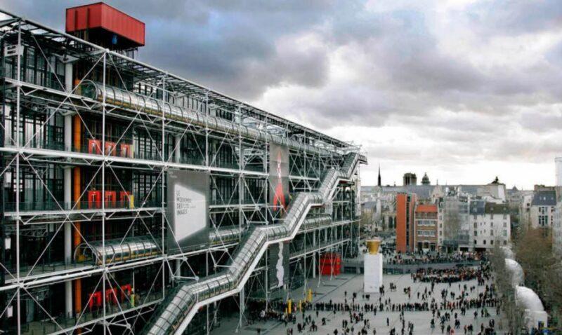 çeliğin avantajları Pompidou Çenter binası