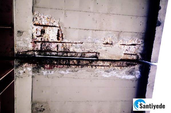 Beton hasar etkenleri yüzeyde kopma dökülme
