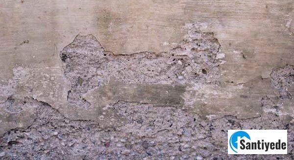 beton yüzeyinde aşınma