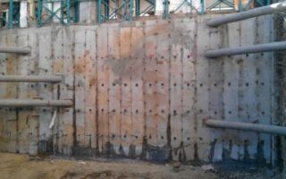 betonarme kuyu perde yapılması
