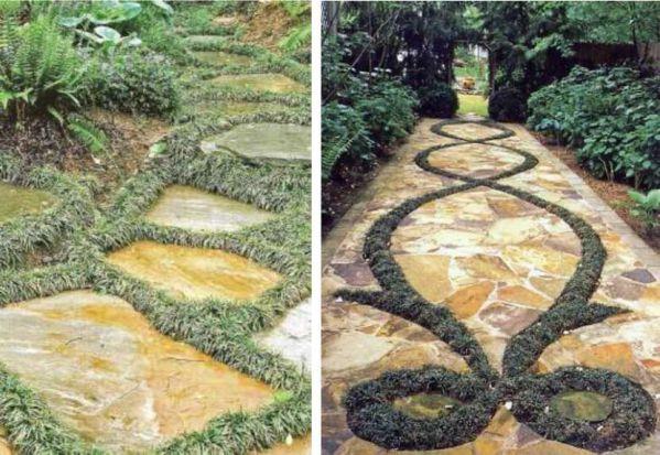 doğal yarılmış taşlarla yaya yürüyüş yolu