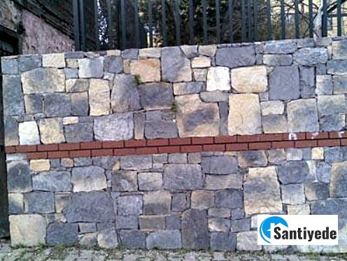kaba yonu taş duvar yapılması
