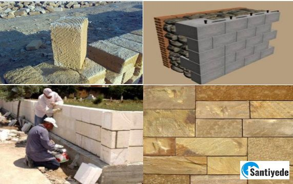 kesme taş duvar yapımı