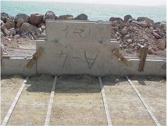Toprakarme duvar Şerit montajı