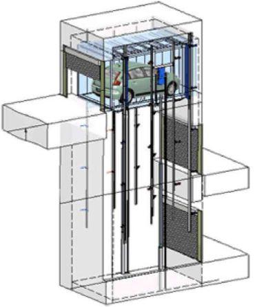 Araç asansörü şematik gösterimi