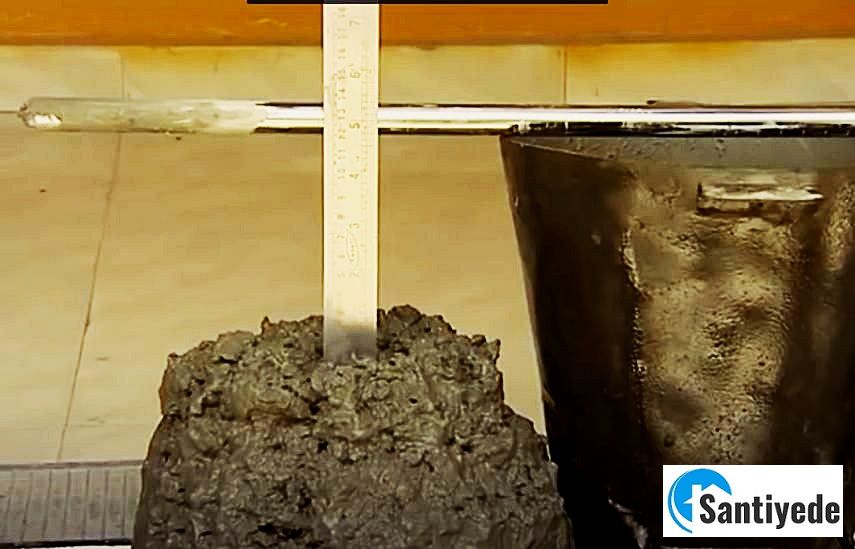 Çöken beton ve Kalıp yüksekliğinin ölçülmesi