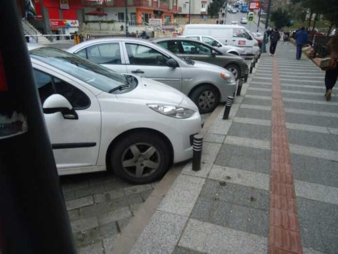 Yol kenarı otopark sınırlayıcı çelik bariyer