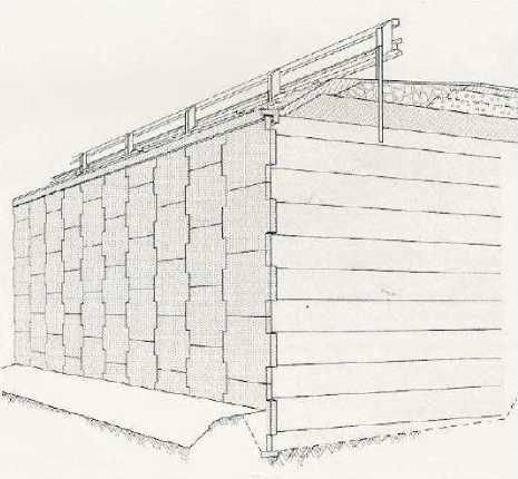toprakarme istinat yapısının üç boyutlu görünümü
