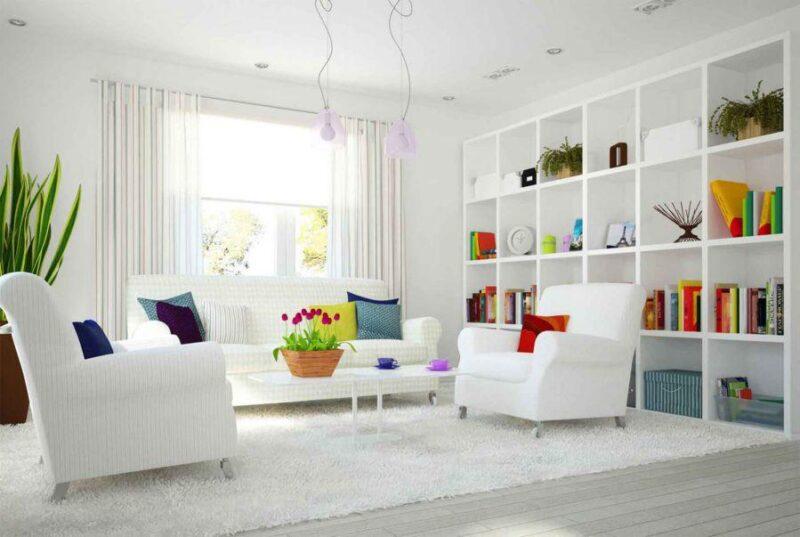 Evi aydınlık gösteren eşya ve perde renkleri