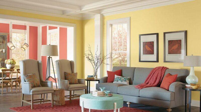 Sarı duvar rengi