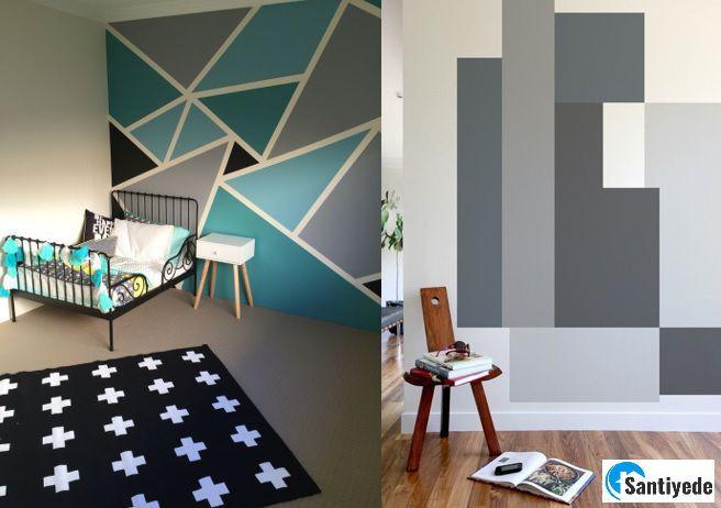desenli duvar boyası fikirleri