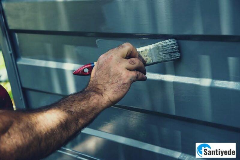 Panel kapıların boyanması