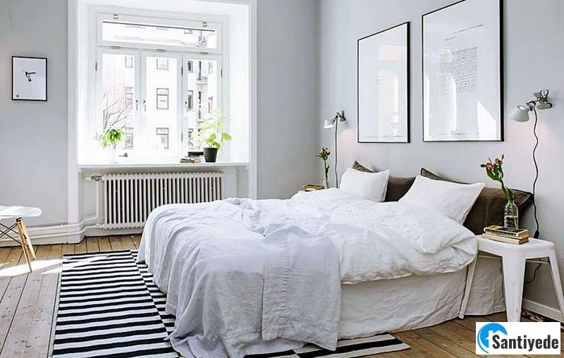 Beyaz yatak odası