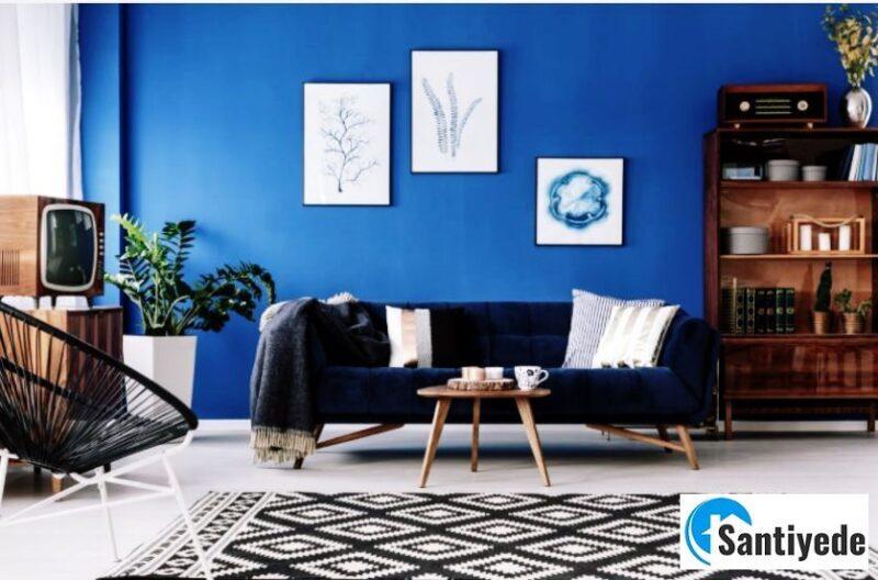 Dekorasyonda mavi