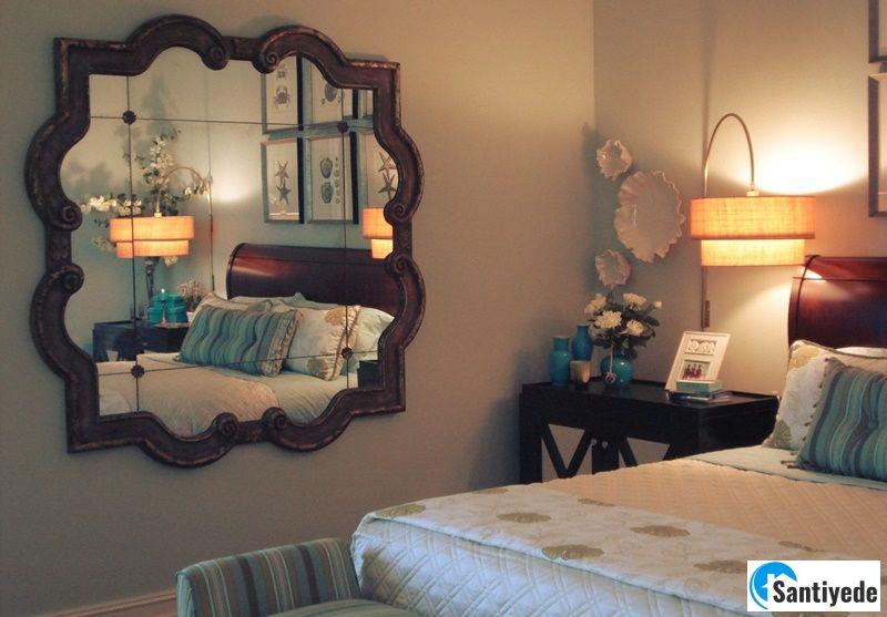 Küçük yatak odası ayna kullanımı
