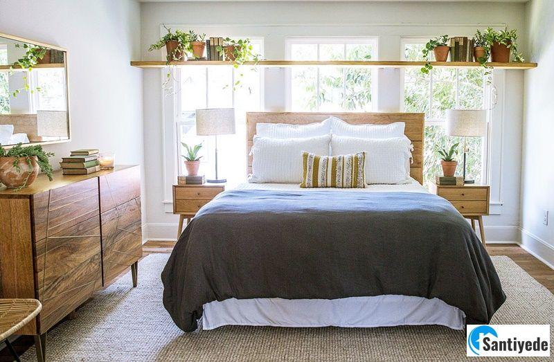 Küçük yatak odası gün ışığından faydalanma