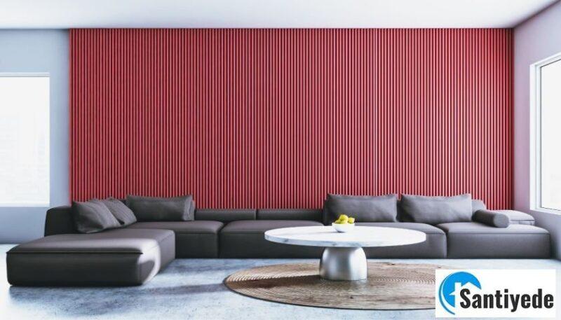 dekorasyonda kırmızı ile uyumlu renkler
