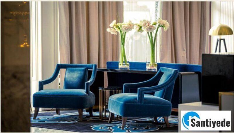dekorasyonda mavi ile uyumlu renkler