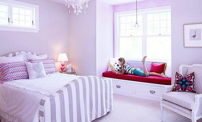 kız çocuk odası lila rengi