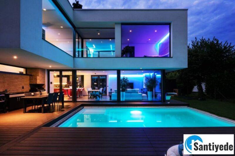 led ışıklı ev dekorasyonu