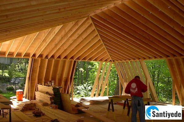 mansard çatı ile geniş alanlar elde edilmesi