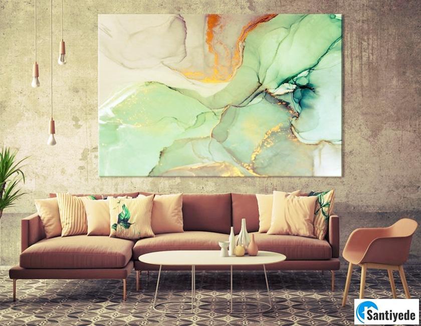 Büyük tablolar ile evinizi güzel gösterin