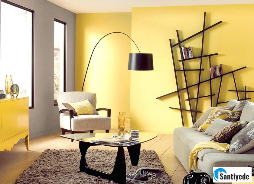 açık başak sarısı ile evi zengin gösteren boya renkleri