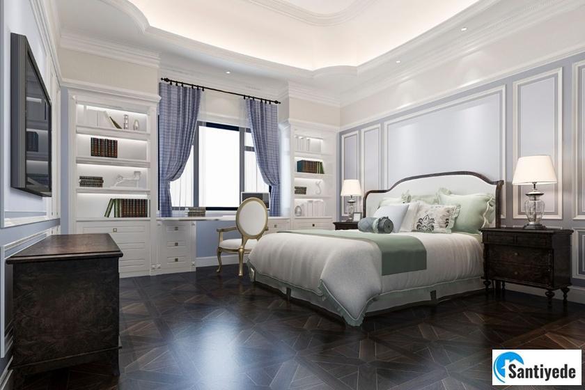 Huzurlu yatak odası dekorasyonu
