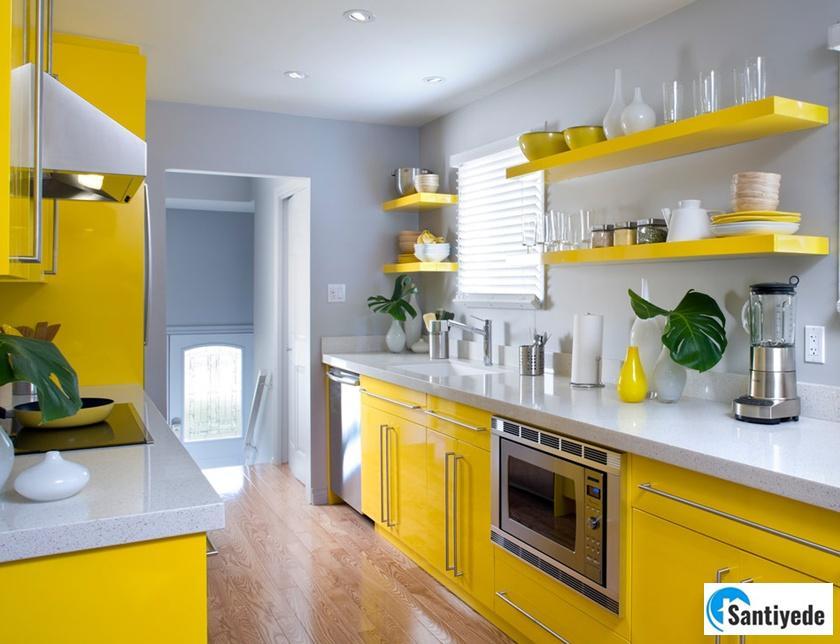 Mutfaklarda sarı renk kullanılması