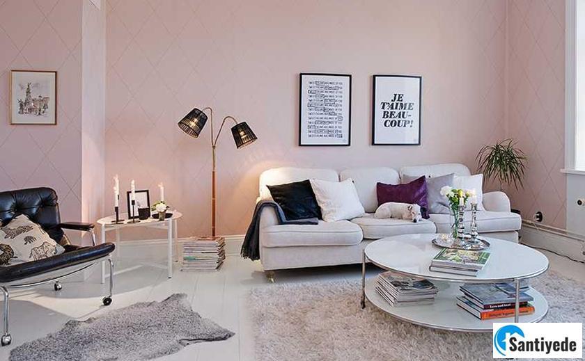 pudra pembesi evi zengin gösteren boya renkleri