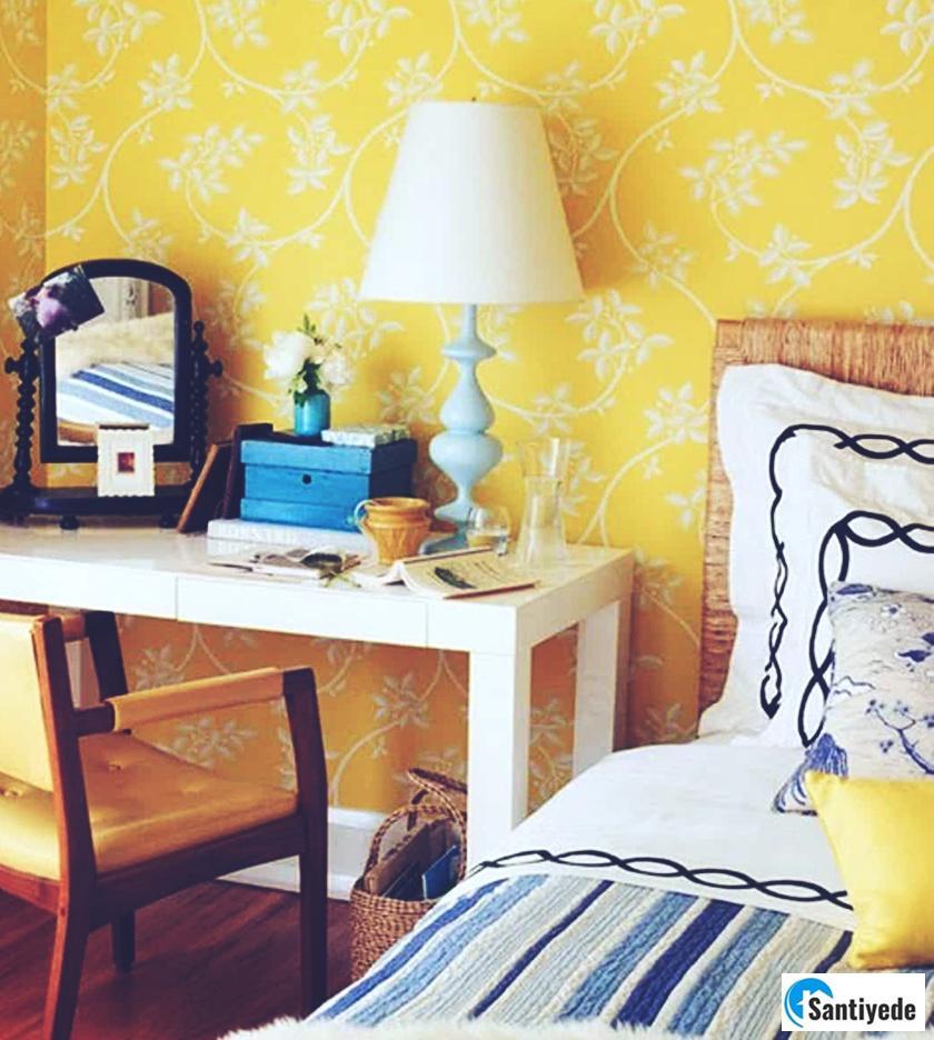 sarı renk duvar kağıdı