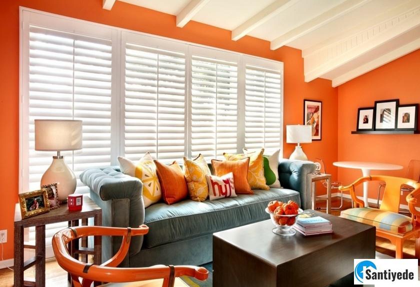 yanık portakal rengi ile zengi evler