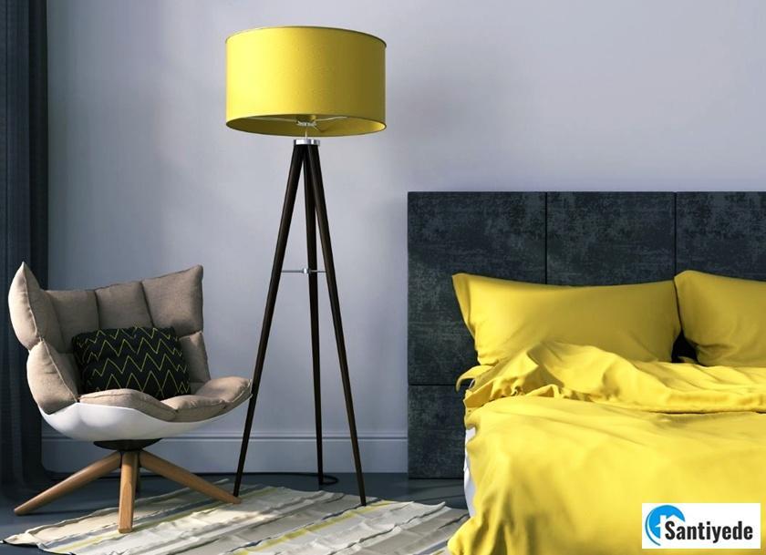 yatak odalarında sarı
