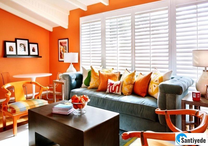Dekorasyonda turuncu renk