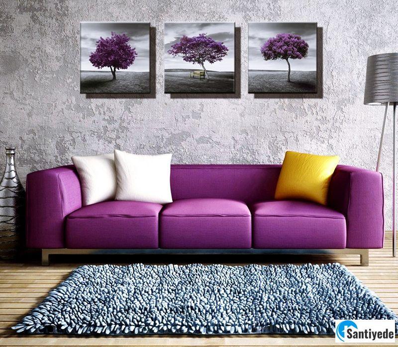 Mor renk dekorasyon