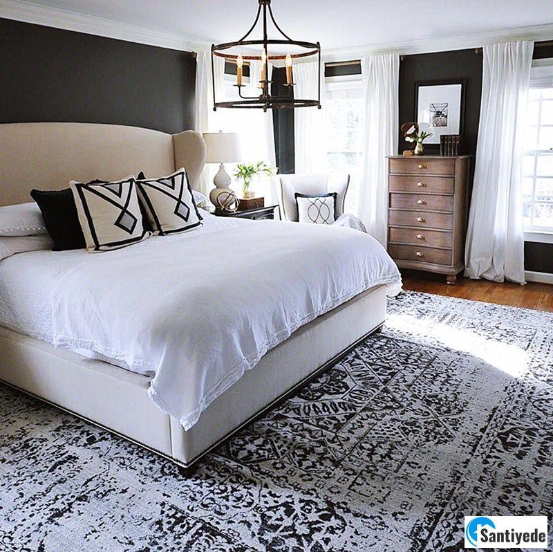 Yatak odası halı yerleşimi