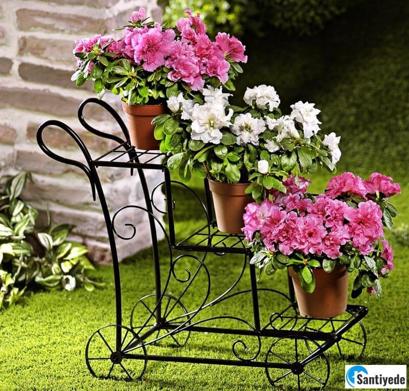 Bahçe çiçeklik modeli