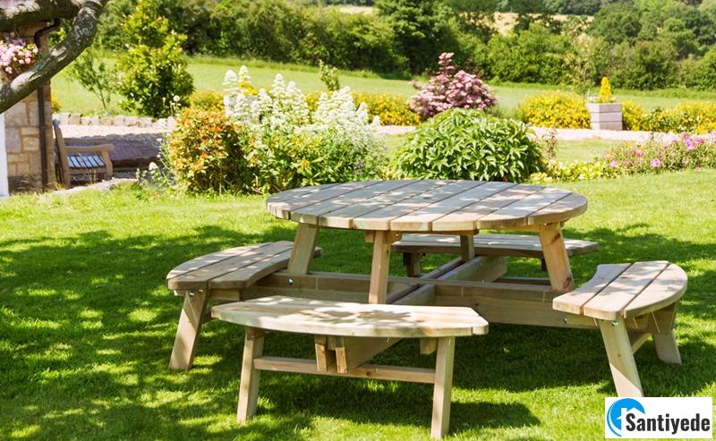Bahçe için piknik masası