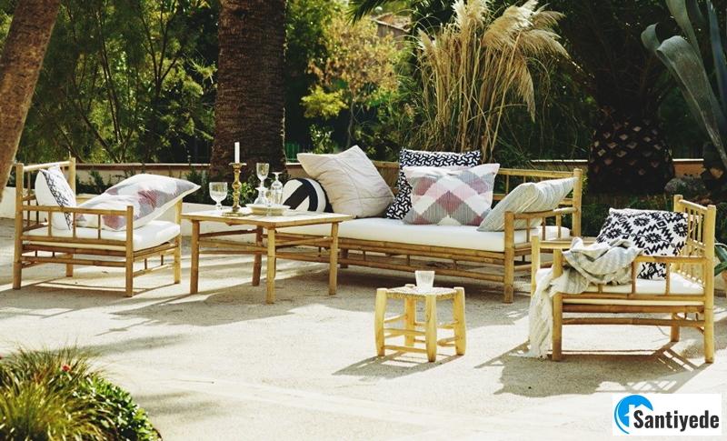 Bambu bahçe mobilya modeli
